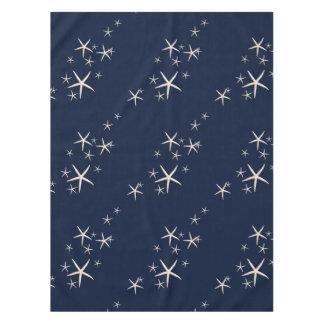 Starfish-weißes Marine-Blau tropisch Tischdecke
