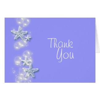 Starfishblase danken Ihnen Karte