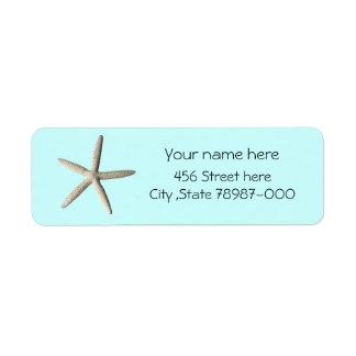 Starfishstrand-Rücksendeadresseaufkleber