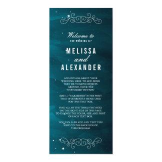 Stargazer-Hochzeits-Programm 10,2 X 23,5 Cm Einladungskarte