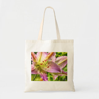 Stargazer-Lilien-Aquarell-Blick-Blumenkunst Tragetasche
