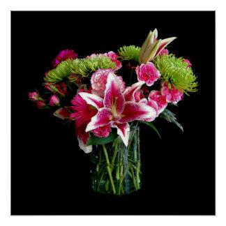 Stargazer-Lilien-Blumenstrauß Poster
