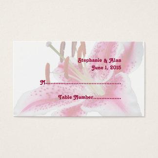Stargazer-Lilien-Hochzeits-Platzkarten Visitenkarte