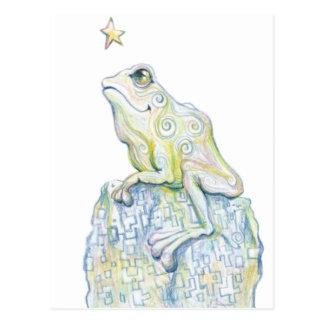 Stargazing Frosch Postkarte