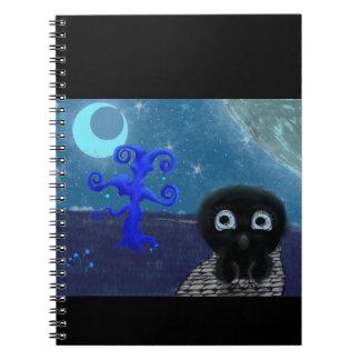 Stargazing Mondschein Spiral Notizblock
