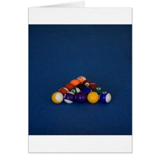 Stark beanspruchte Pool-Bälle Grußkarten