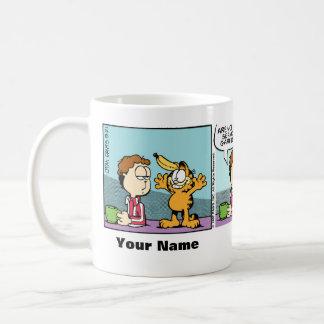 """""""Stark ernster"""" Garfield-Comic-Streifen sein Kaffeetasse"""