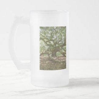 Stark und mutig mattglas bierglas