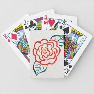 Stark vereinfachte Rose Bicycle Spielkarten