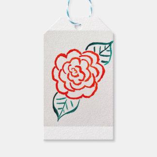 Stark vereinfachte Rose Geschenkanhänger