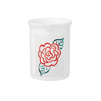Stark vereinfachte Rose Krug