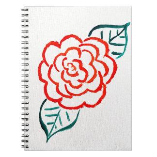 Stark vereinfachte Rose Spiral Notizblock