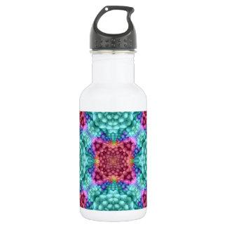 Starke blaue bunte Wasser-Flaschen Trinkflasche