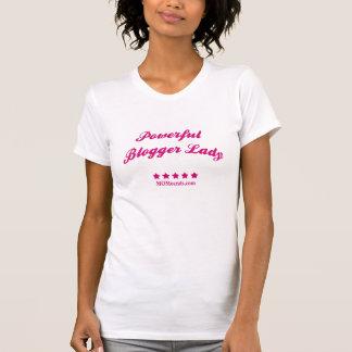 Starke Blogger-Dame T-Shirt