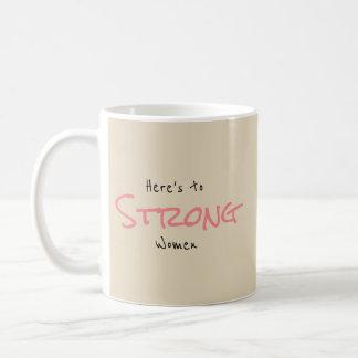 Starke Frauen Kaffeetasse