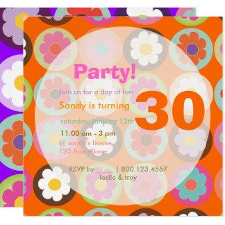 Starke Gänseblümchen/diy Hintergrund Quadratische 13,3 Cm Einladungskarte
