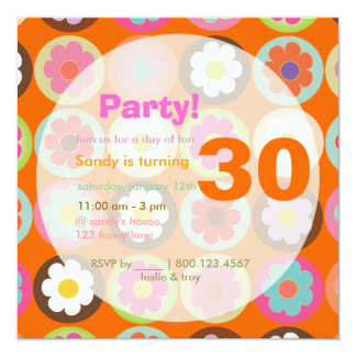 Starke Gänseblümchen/helle diy Hintergrundfarbe Quadratische 13,3 Cm Einladungskarte