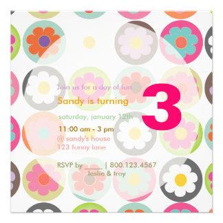 Starke Gänseblümchen helle Sechziger B day Individuelle Einladungskarten