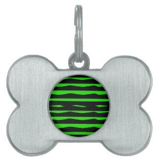 Starke grüne und schwarze Streifen Tiermarke