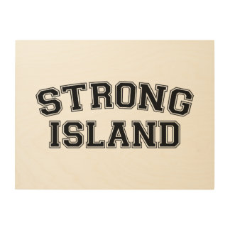 Starke Insel, NYC, USA Holzleinwand