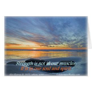 Stärke ist nicht in unseren Muskeln, Grußkarte