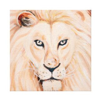 Starke Löwe-Porträt-Öl-Kunst Leinwanddruck