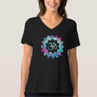 *~* starke OM-Magenta u. Blueswatercolor-Schwarzes T-Shirt