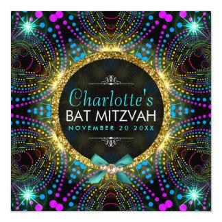 Starke Prinzessin Mint Pink Blacklight Bat Mitzvah Karte