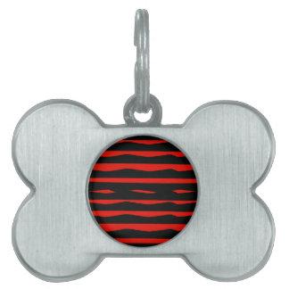 Starke rote und schwarze Streifen Tiermarke