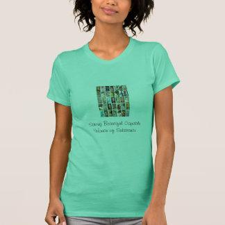 Starke schöne fähige Frau des Substanz-Behälters T-Shirt