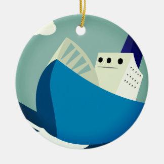 Starke Segeln-Verzierung Keramik Ornament