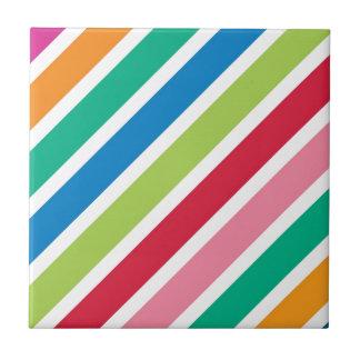 Starke Süßigkeits-Streifen Kleine Quadratische Fliese