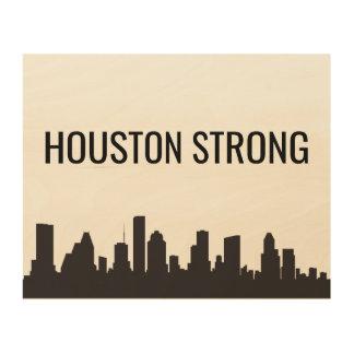 Starke Wand-Kunst Houstons Holzdruck