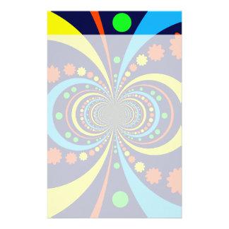 Starke Wanze mustert Stern-Streifen-blaue Orange Druckpapiere