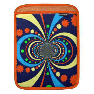 Starke Wanze mustert Stern-Streifen-blaue Orange iPad Sleeve
