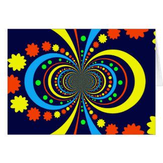 Starke Wanze mustert Stern-Streifen-blaue Orange Mitteilungskarte
