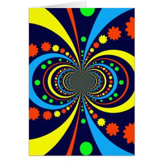 Starke Wanze mustert Stern-Streifen-blaue Orange Grußkarten