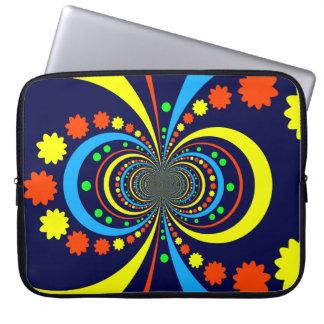 Starke Wanze mustert Stern-Streifen-blaue Orange Computer Schutzhüllen