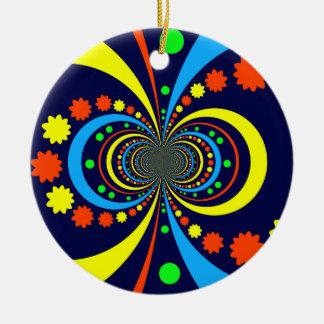 Starke Wanze mustert Stern-Streifen-blaue Orange Ornamente