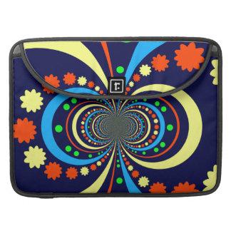 Starke Wanze mustert Stern-Streifen-blaue Orange Sleeves Für MacBook Pro