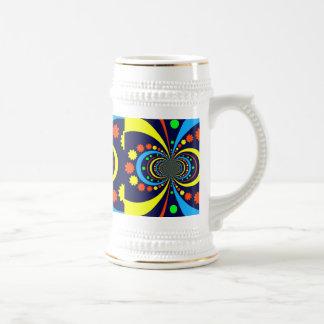 Starke Wanze mustert Stern-Streifen-blaue Orange Kaffeehaferl