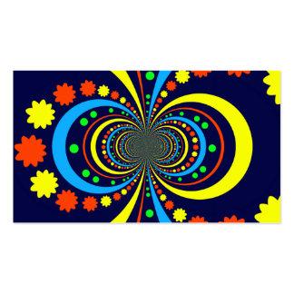 Starke Wanze mustert Stern-Streifen-blaue Orange Visitenkarten