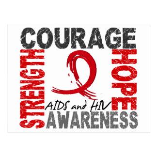 Stärken-Mut-Hoffnung AIDS Postkarte