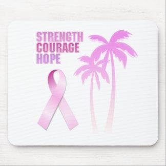 Stärken-Mut-Hoffnungs-Rosa-Band-Palmen Mousepad