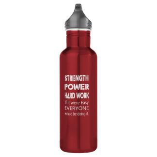 Stärken-Power-harte Arbeit Edelstahlflasche