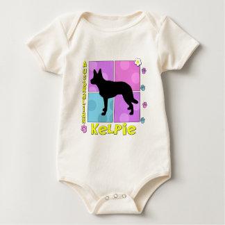 Starker australischer Kelpie Baby Strampler