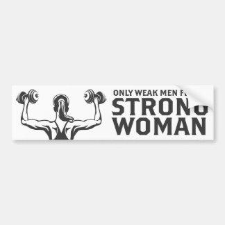 Starker Frauen-Autoaufkleber Autoaufkleber