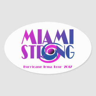 Starker Hurrikan-Irma-Aufkleber Miamis Ovaler Aufkleber
