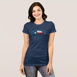 Starker Hurrikan Texas Harvey der T - Shirt Frauen