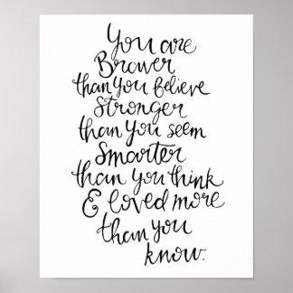 Stärker, intelligenter, tapferer u. geliebt poster